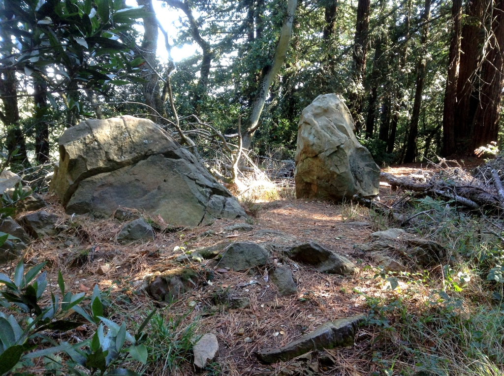 Two natural standing stones