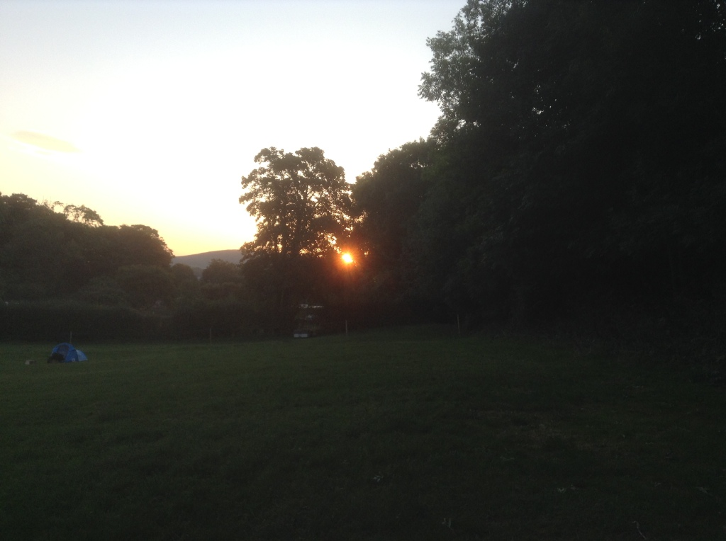 Sunrise through the treesSunrise through the trees at Alfriston Camping Park