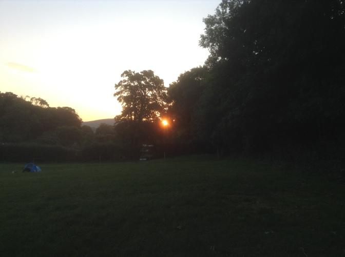 Sunrise through the treesSunrise through the trees at Alfriston Camping Park