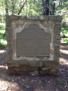 Marker placed by California Historical Society to mark the site of the Blossm Rock Navigation Trees